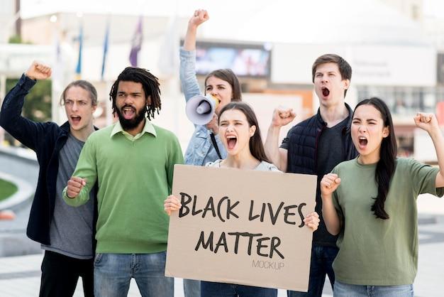 Maquette de concept de vie noire