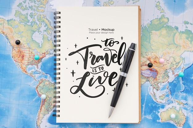 Maquette de concept de voyage magnifique