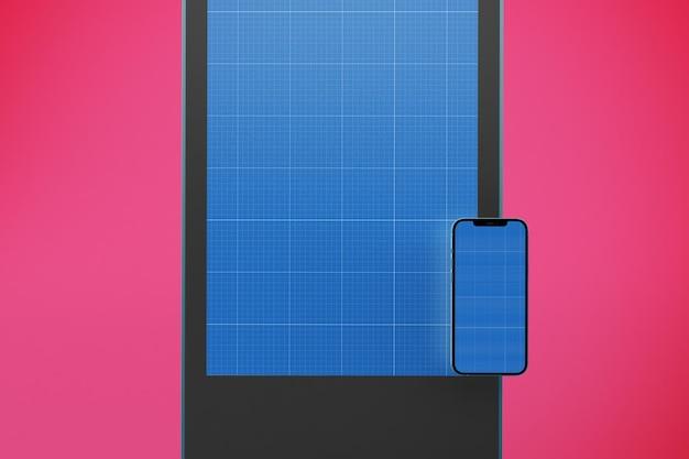 Maquette de conception d'affichage numérique