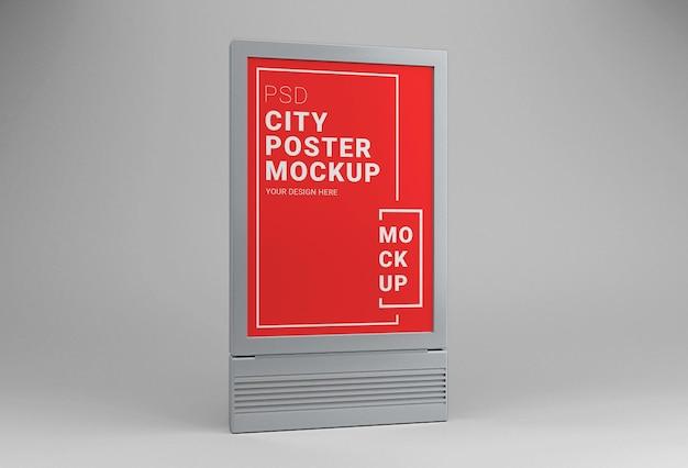 Maquette de conception d'affiche de ville en plein air