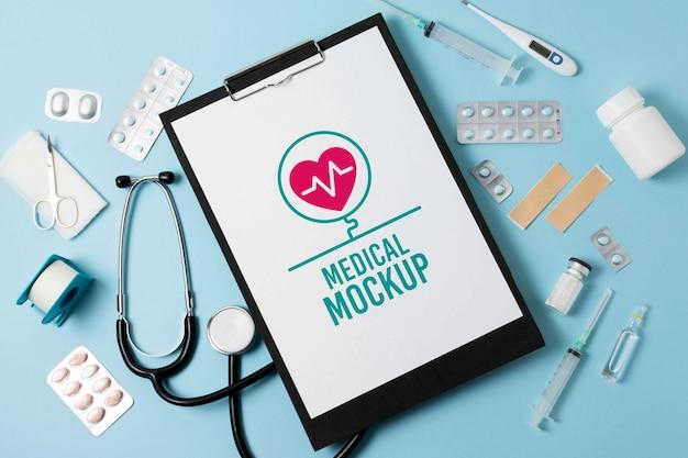 Maquette de conception de bloc-notes médical