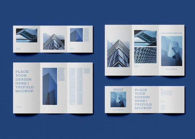 Maquette de conception de brochure