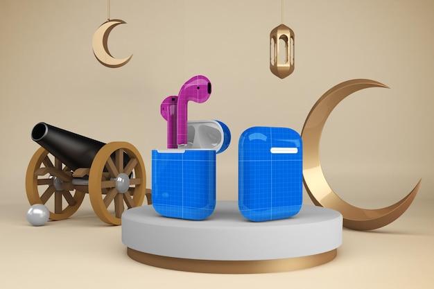 Maquette de conception de cosses de ramadan