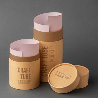 Maquette de conception de cylindre de papier artisanal