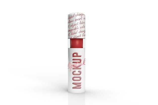 Maquette de conception d'emballage 3d de rouge à lèvres