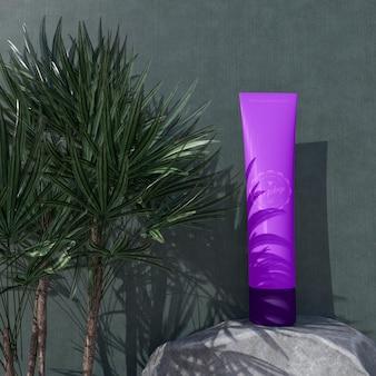 Maquette de conception d'emballage cosmétique. emballage pour la conception de la marque