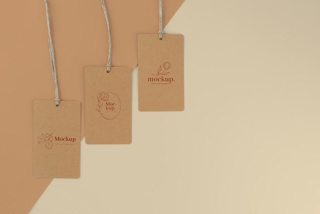 Maquette de conception d'étiquettes artisanales
