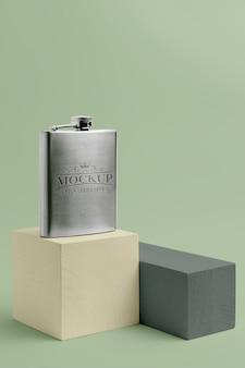 Maquette de conception de flacon de hanche