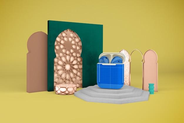 Maquette de conception de gousses arabes