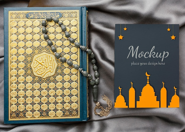 Maquette de conception d'impression du ramadan