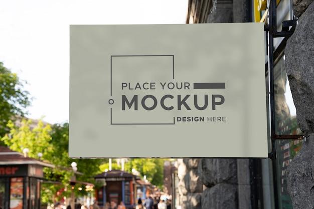 Maquette de conception de panneau de ville