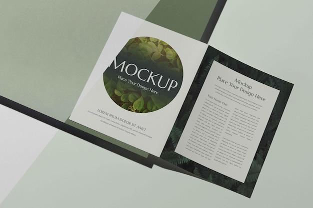 Maquette de conception de studio de brochure