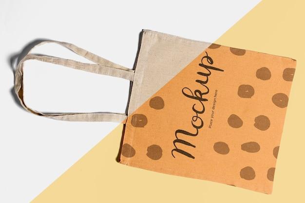 Maquette concrète de sac mignon