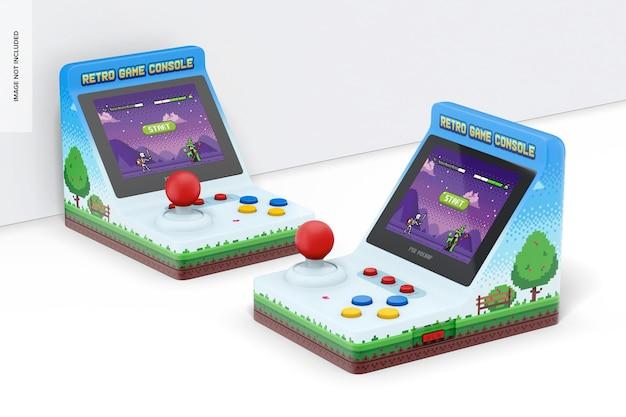 Maquette de consoles de jeux portables rétro