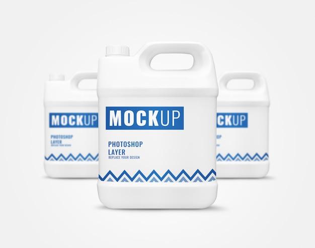 Maquette de contenants de gallon blanc