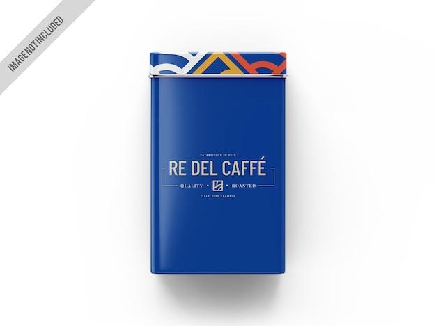 Maquette de conteneur de boîte à café