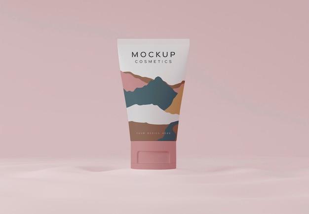 Maquette de conteneur de cosmétiques
