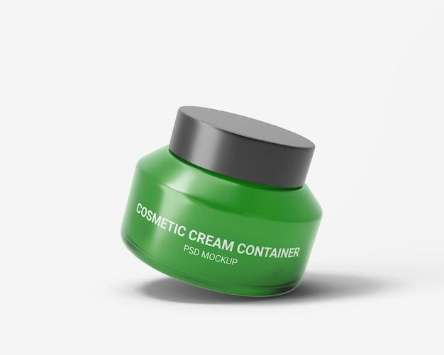 Maquette de conteneur de crème cosmétique