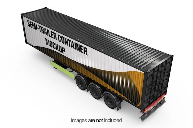 Maquette de conteneur de semi-remorque