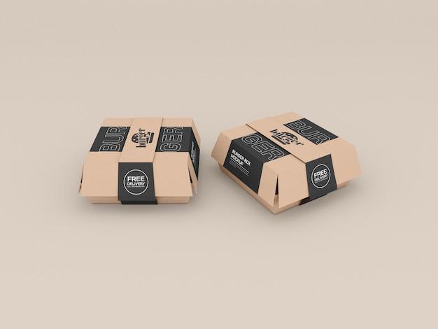 Maquette de conteneurs de restauration rapide