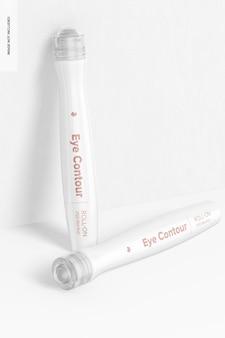 Maquette de contour des yeux à bille, penchée