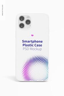Maquette de coques en plastique pour smartphone, vue de face