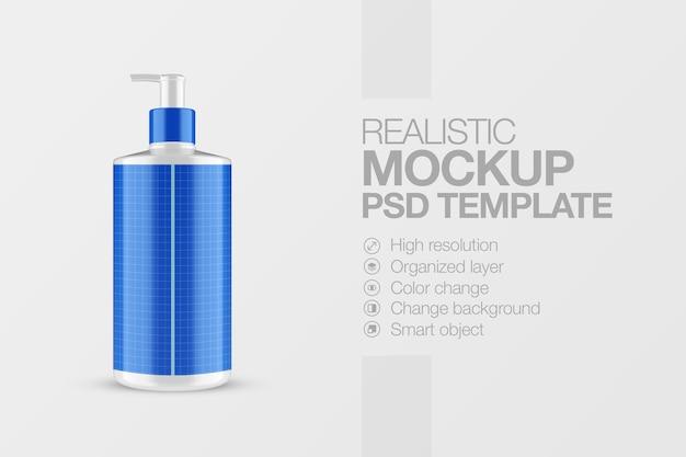 Maquette cosmétique de pompe à bouteille réaliste