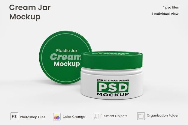 Maquette cosmétique de pot de crème psd premium