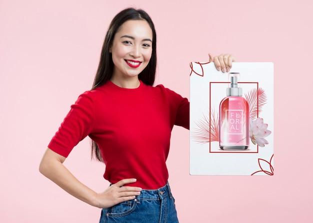 Maquette de cosmétiques vue avant de la bannière