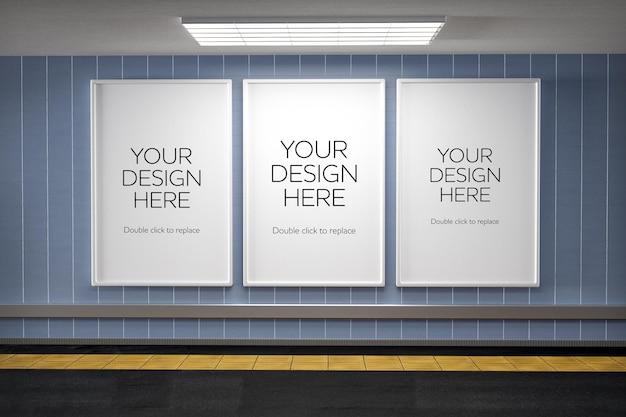 Maquette de couloir d'affiche de métro
