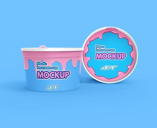 Maquette de coupe de crème glacée
