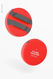 Maquette de coussinets de mise au point circulaires, tombant