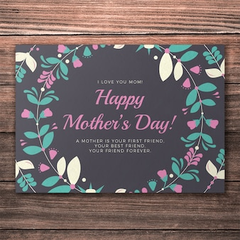 Maquette de couverture de la belle journée des mères