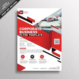 Maquette de couverture de brochure d'entreprise rouge