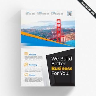 Maquette de couverture de brochure d'entreprise