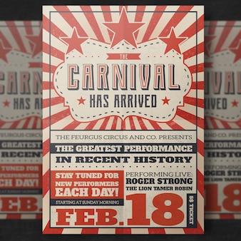Maquette de couverture de carnaval vintage