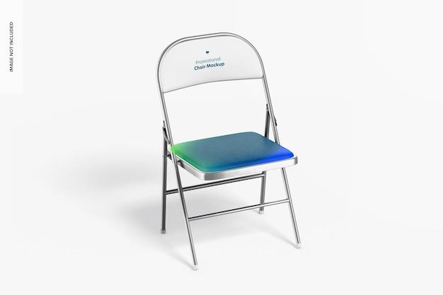 Maquette de couverture de chaise promotionnelle
