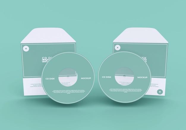 Maquette de couverture et de disque compact simple