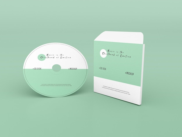 Maquette de couverture et de disque compact