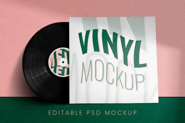 Maquette de couverture de disque vinyle rétro