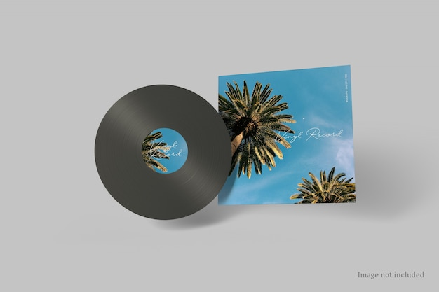 Maquette de couverture de disque vinyle