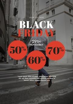Maquette de couverture du vendredi noir avec image