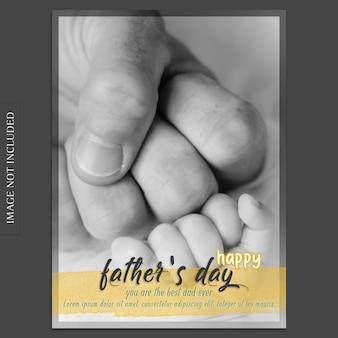 Maquette de couverture de fête des pères avec gros plan des mains