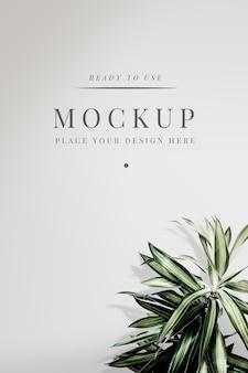 Maquette de couverture florale