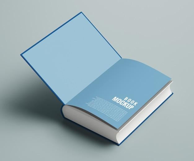 Maquette de couverture intérieure du livre épais isolé