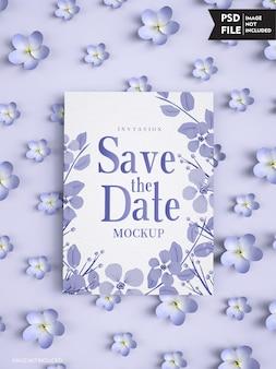 Maquette de couverture d'invitation de mariage