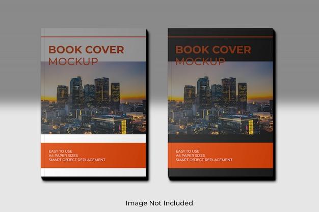 Maquette de couverture de livre a4 avec ombre