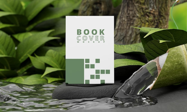 Maquette de couverture de livre avec concept nature