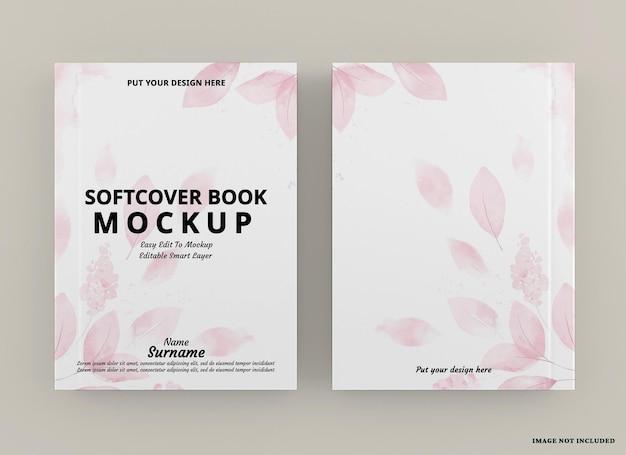 Maquette de couverture de livre à couverture souple