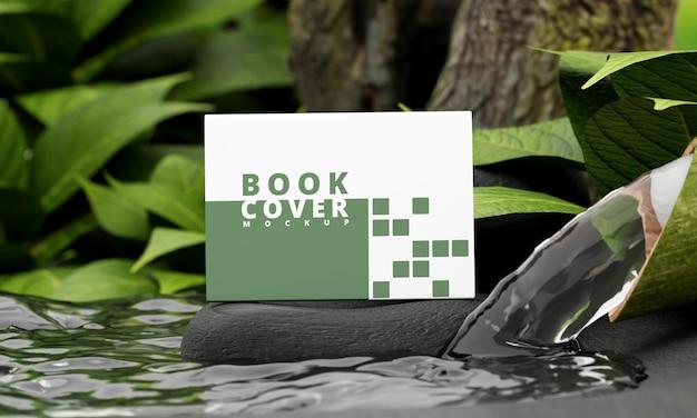Maquette de couverture de livre de paysage avec le concept de la nature